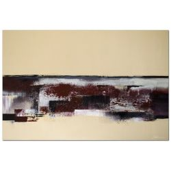Modernes Acrylbild Bordeaux Rot Silber abstrakt