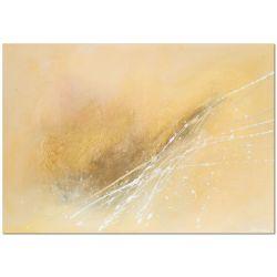 Acrylbild Gold abstraktes Acrylbild handgemalt