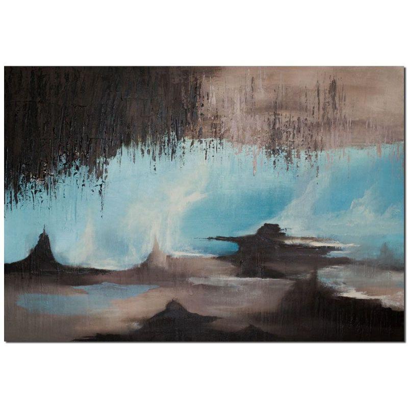 Wandbilder modern evolution starts als handgemaltes wandbild wandbilder slavova art - Abstrakte wandbilder ...