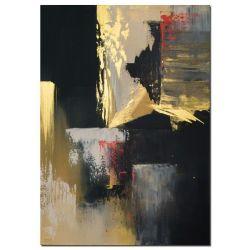 Acrylbilder abstrakt Gold Rush als handgemaltes Acrylbild