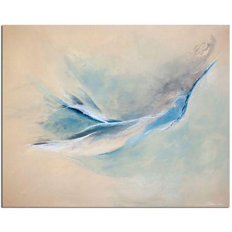 Wandbild Blue Motion abstrakt
