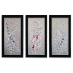 Wandbild XXL Format modern Silber auf Leinwand