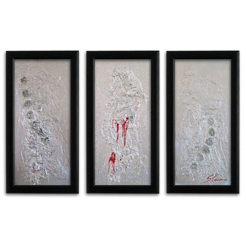 Wandbild xxl format modern silber auf leinwand wandbilder slavova art - Moderne wandbilder auf leinwand ...