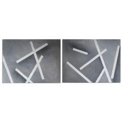 Acrylbilder XXL Format mehrteilig Silber Acryl