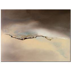 Blitz abstraktes Acrylbild mit Silber von Antoniya Slavova