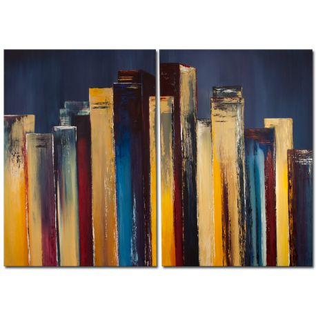Skyscryper Acrylbild Skyline mit Hochhäusern