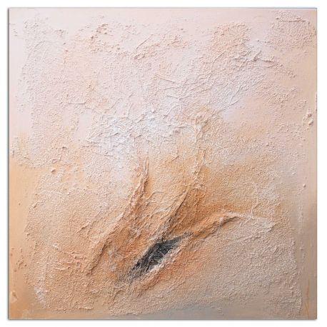 Wandbild Quadra Silk Earth handgemalt