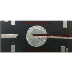 Wandbilder abstrakt Silber Linings