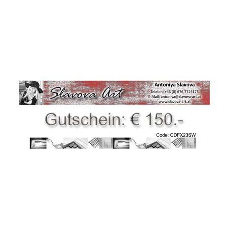 Wandbilder Gutschein EUR150