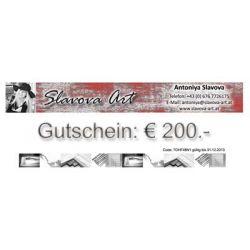 Wandbilder Gutschein EUR200