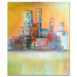 Acrylbilder abstrakt City Strukture