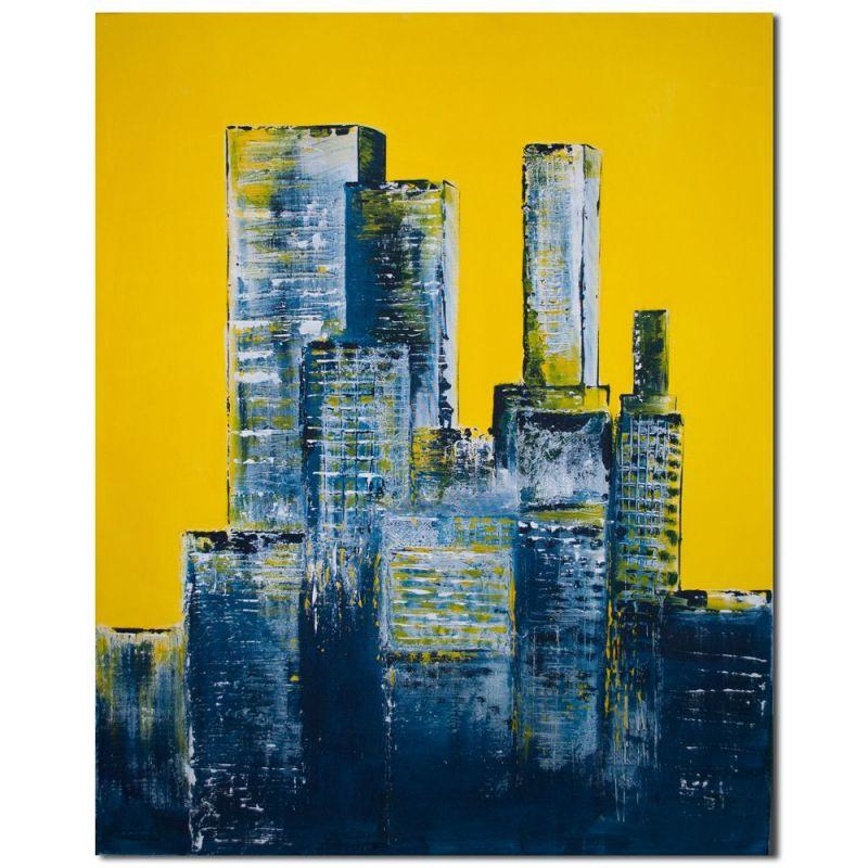 acrylbilder wohnzimmer city abstrakt - Wohnzimmer Bilder Abstrakt