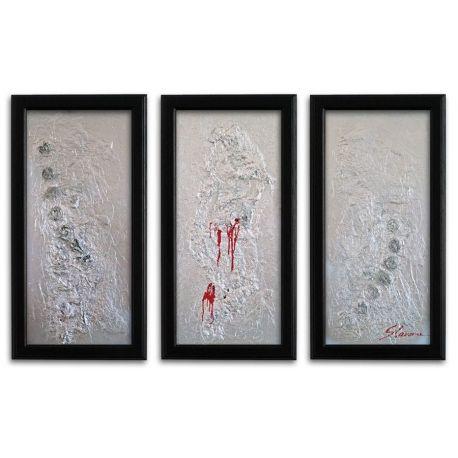 Wandbilder modern Silber auf Leinwand