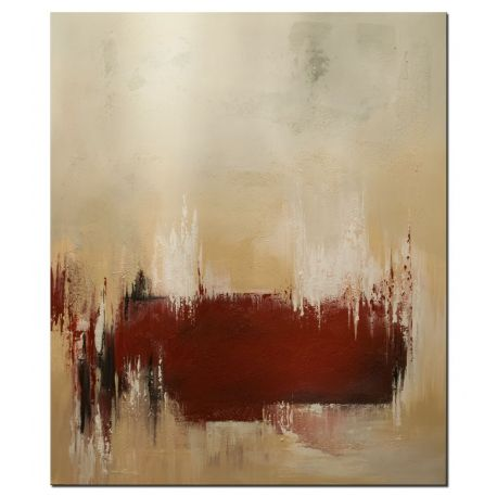 "Acrylbilder abstrakt ""The Red Line"""