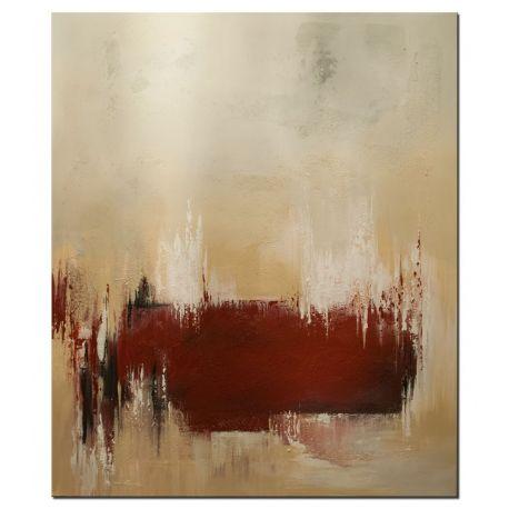 """Wandbilder abstrakt """"The Red Line"""""""