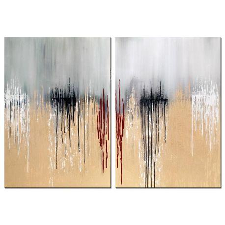Wandbild mehrteilig Tears on Horizon modern