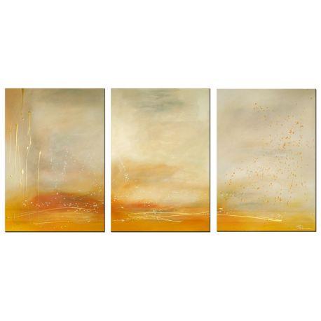 Wandbilder mehrteilig Sand Gold