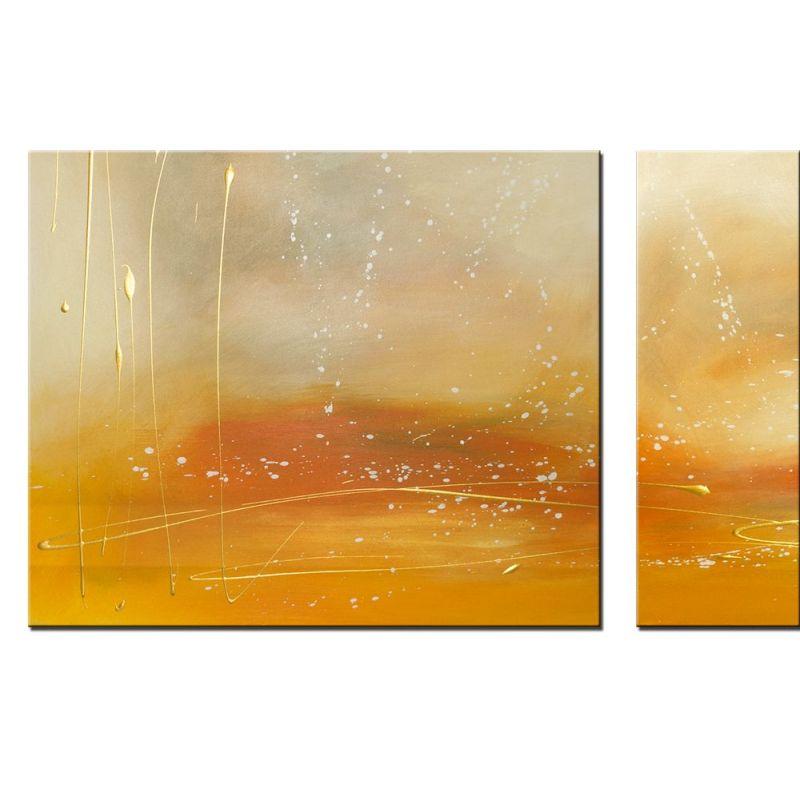Wandbilder mehrteilig Sand Gold - Wandbilder Slavova Art