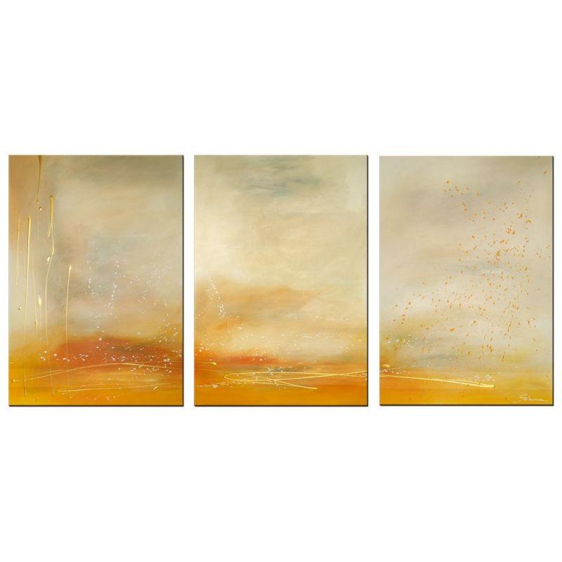 acrylbilder mehrteilig sand gold - wandbilder slavova art, Wohnzimmer dekoo