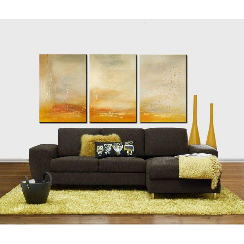 Bilder Acryl Mehrteilig : Acrylbilder mehrteilig Sand Gold  Wandbilder Slavova Art