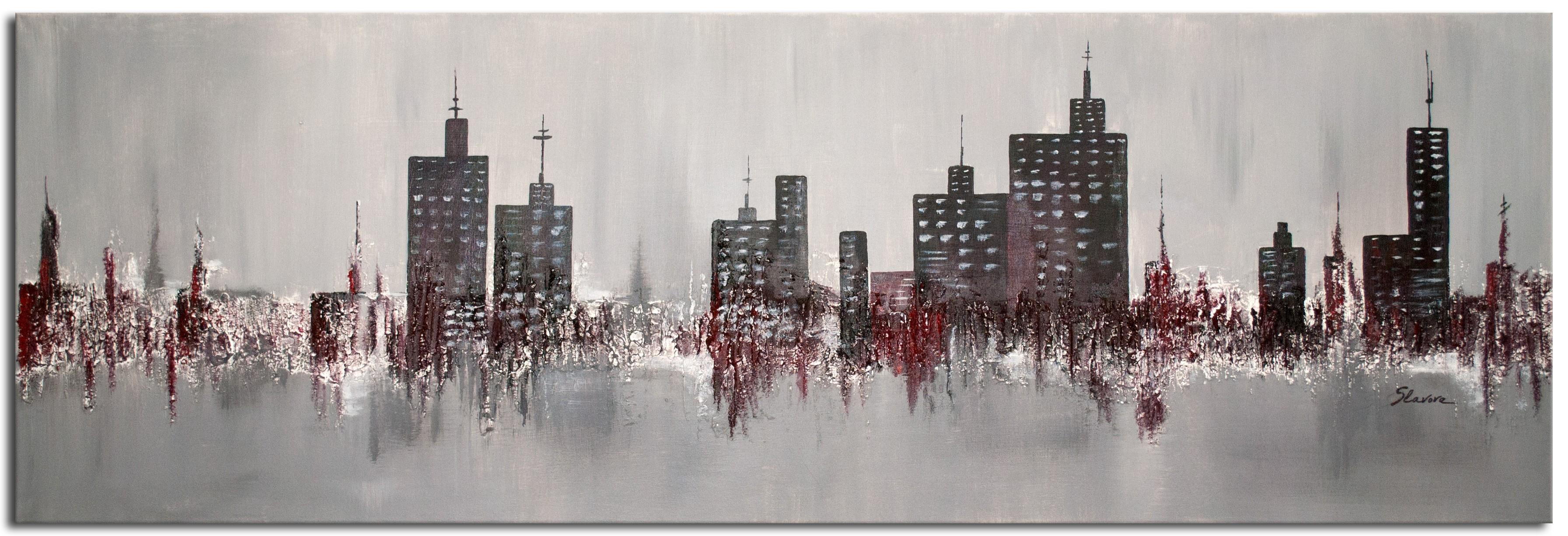 wandbilder wohnzimmer skyline acrylbild - wandbilder slavova art, Wohnzimmer